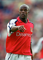 Sylvian Wiltord makes his 1st full debut for Arsenal. Bradford City 1:1 Arsenal, F.A. Carling Premiership, 9/9/2000. Credit Colorsport / Stuart MacFarlane.