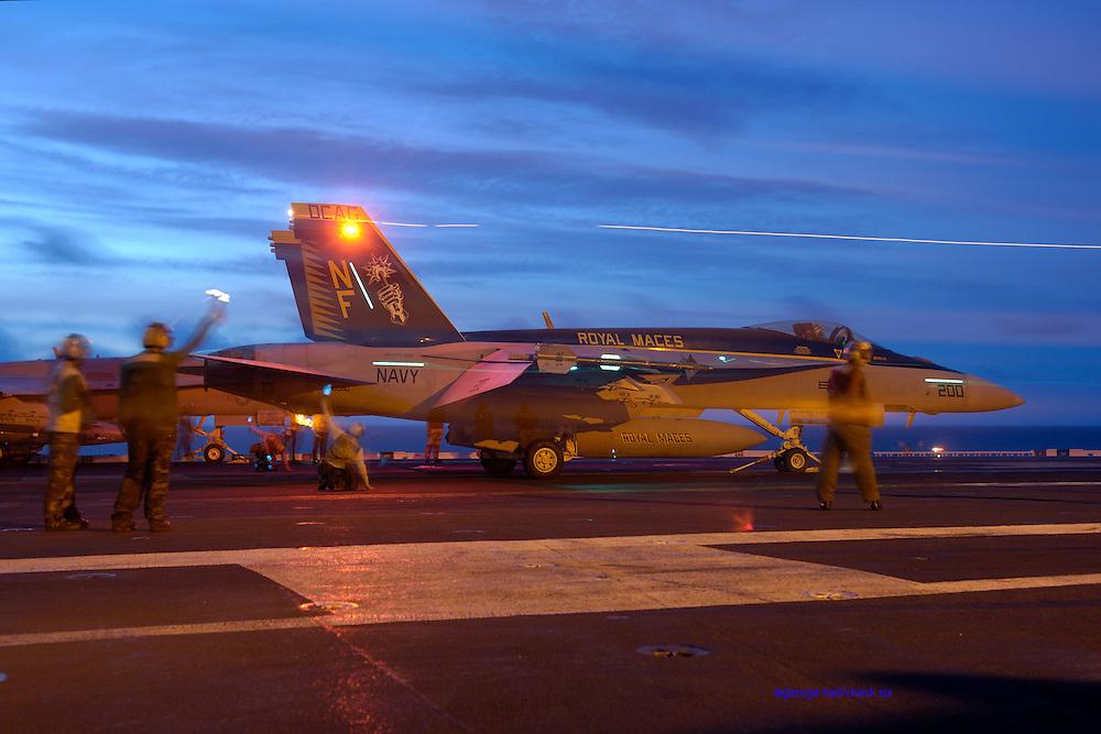F/A-18E Super Hornet on catapult