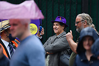 Tennis - 2021 All-England Championships - Week One - Wimbledon<br /> <br /> Mark Steel, an English comedian, broadcaster, newspaper columnist and author queues outside the AELTC.<br /> <br /> COLORSPORT/ASHLEY WESTERN