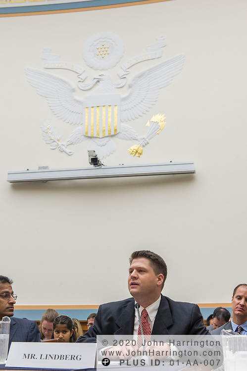 """Van Lindberg, VP, Intellectual Property, Rackspace, testifies before the House Committe on the Judiciary on """"Innovation in America: The Role of Technology"""", August 1, 2013on Capitol Hill in Washington, DC."""