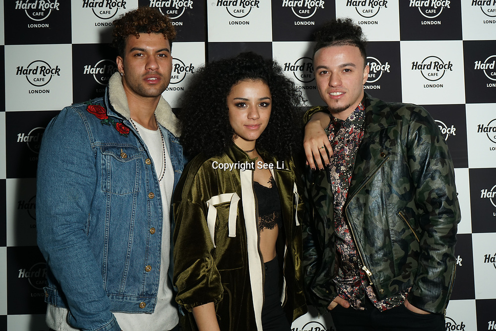 Hard Rock Cafe London, England, UK. 4th Dec 2017. The Cutkelvins Arrivals at Fight For Life Charity Event of Christmas festivities and entertainment for children with cancer
