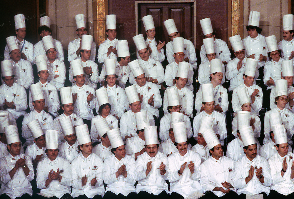 Graduation class ceremony at the Culinary Institute of America in Poughkeepsie, New York