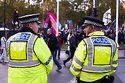 Police surveillance during the People's Vote March 19th of october