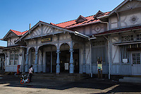 """Hamadera Station was built n 1907 - its design was from Tatsuno Kataoka architectural firm that Tatsuno Kingo  who was known designing Tokyo Station. It was the first railway station in Japan to be registrered as a cultural asset and also chosen as in the """"hundred best stations"""".   Nowadays Nankai Railways calls this station Hamaderakoen station as it serves Hamadera Park nearby."""