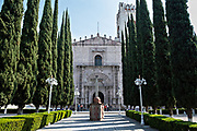 The San Nicolas Tolentino Temple and Ex-Monastery in Actopan, Hidalgo, Mexico. The colonial church and convent  was built in 1546 and combine architectural elements from the romantic, gothic and renaissance periods.