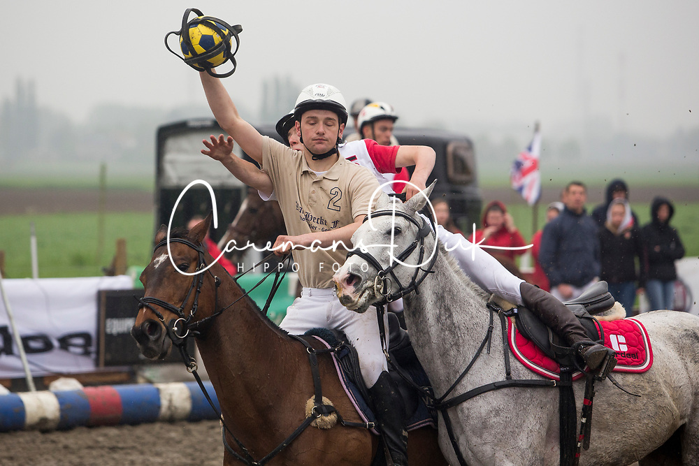 Van Herreweghe Axel, BEL, Princess Querda<br /> BK Horseball 2018<br /> © Sharon Vandeput<br /> 15:46:37