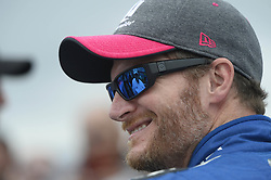 October 8, 2017 - Concord, NC, USA - NASCAR driver Dale Earnhardt Jr smiles as he talks with team owner Rick Hendrick prior to the start of the Bank of America 500 at Charlotte Motor Speedway in Concord, N.C., on Sunday, Oct. 8, 2017. (Credit Image: © David T. Foster Iii/TNS via ZUMA Wire)