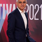 Sadiq Khan attended ALI & AVA - The Mayor of London's Special Presentation, 13 October 2021 Southbank Centre, Royal Festival Hall, London, UK.