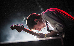 """Bombay Bicycle Club's Jack Steadman. Saturday at Rockness 2013, the annual music festival which took place in Scotland at Clune Farm, Dores, on the banks of Loch Ness, near Inverness in the Scottish Highlands. The festival is known as """"the most beautiful festival in the world"""" ."""