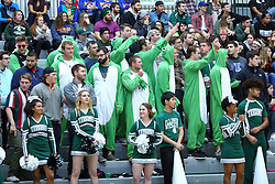 07 December 2016:  student fans during an NCAA men's division 3 CCIW basketball game between the North Park Vikings and the Illinois Wesleyan Titans in Shirk Center, Bloomington IL