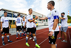 Timotej Dodlek of NK Koper with Dare Vrsic of NK Koper during football match between NK Bravo and NK Koper in 4th Round of Prva liga Telekom Slovenije 2020/21, on September 19, 2020 in Sport park ZAK, Ljubljana, Slovenia. Photo by Grega Valancic / Sportida
