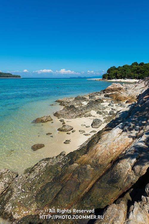 Rocks And Beach Landscape Between Ko Lipe And Ko Adang, Thailand