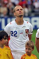 GEPA-0706085663 - BASEL,SCHWEIZ,07.JUN.08 - FUSSBALL - UEFA Europameisterschaft, EURO 2008, Schweiz vs Tschechien, SUI vs CZE. Bild zeigt David Rozehnal (CZE).<br />Foto: GEPA pictures/ Oliver Lerch