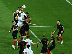 July 11, 2018 - Moscow, Russia - July 11, 2018, Moscow, FIFA World Cup 2018 Football, the playoff round. 1/2 finals of the World Cup. Football match Croatia - England at the stadium Luzhniki. Players of the national team Croatia (Credit Image: © Russian Look via ZUMA Wire)