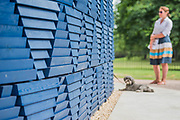 Douglas gives it the dogs examination - The new Serpentine Pavillion designed by Francis Kere is opened outside the gallery in Hyde Park.