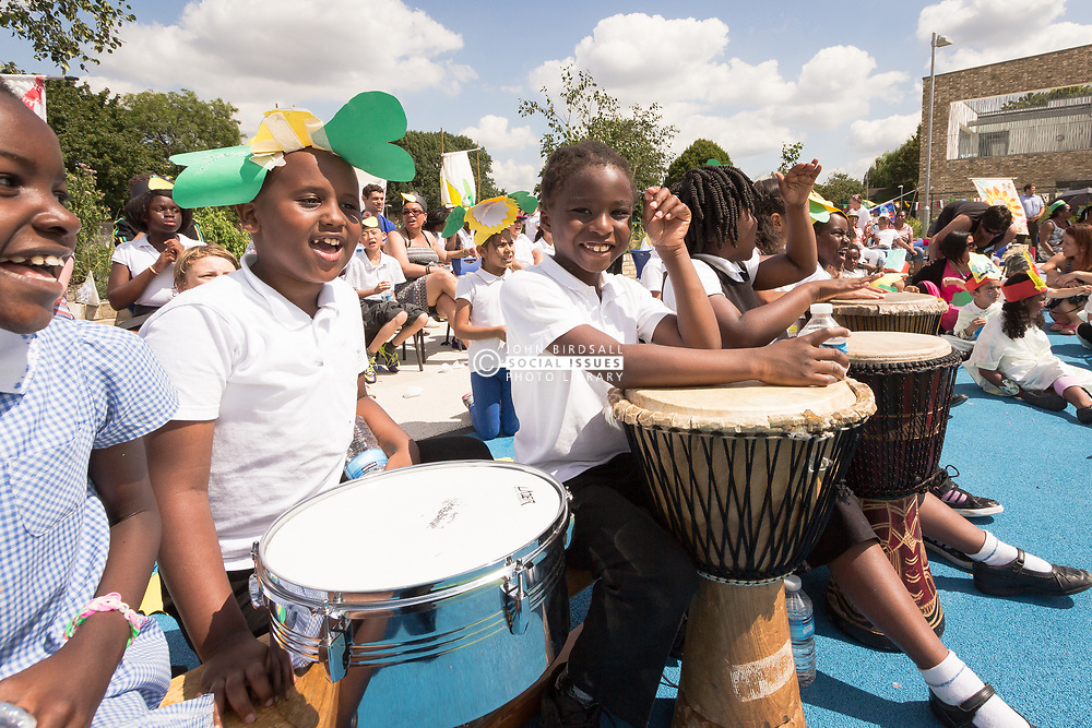 Opening of The Broadwaters Inclusive Learning Community, Tottenham, London Borough of Haringey July 2014. This is a collaboration between two local schools, The Willow Primary School & The Brook Primary Special School. UK