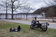 Bill Dragoo taking his afternoon nap at Spavinaw Lake Dam.
