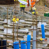 Building site, construckion, Newly built modern cheap housing, Ryde, Isle of Wight, England, UK