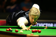 Neil Robertson of Australia in action during the final match against Ronnie O'Sullivan. Betvictor Welsh Open snooker 2016, Final day at the Motorpoint Arena in Cardiff, South Wales on Sunday 21st  Feb 2016.  <br /> pic by Andrew Orchard, Andrew Orchard sports photography.