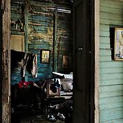 Inside an abandoned house in Havana.