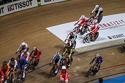 March 2, 2019 - Pruszkow, Poland - Daria Pikulik,Wiktoria Pikulik (POL) compete in the Women's Madison on day four of the UCI Track Cycling World Championships held in the BGZ BNP Paribas Velodrome Arena on March 02 2019 in Pruszkow, Poland. (Credit Image: © Foto Olimpik/NurPhoto via ZUMA Press)
