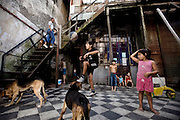Buenos Aires, Argentina.<br /> <br /> Vida cotidiana en un de patio de conventillo (construcción típica de principios de siglo XX) de la Isla Maciel. Muchos niños y adultos del vecindario tienen plomo en sangre en cantidades suficientes como para afectar al sistema nervioso y disminuir el coeficiente intelectual. La salud se mantiene un circulo enfermizo muy difícil de mejorar, ya que respiran aire contaminado y toman agua contaminada.<br /> <br /> Daily life in a conventillo (typical construction of the early XXth century) of the Island Maciel. Many children and adults of the local community have lead in blood in sufficient quantities to affect to the nervous system and to diminish the intellectual coefficient. The health supports a sickly circle very difficult to improve, since they breathe contaminated air and drink contaminated water.<br /> <br /> La vie quotidienne dans un conventillo (la construction typique des premières décades du XX ème siècle) de l'Île Maciel. Beaucoup d'enfants et adultes de la communauté locale ont du plomb dans le sang dans les quantités suffisantes pour affecter au système nerveux et diminuer le coefficient intellectuel. La santé soutient un cercle maladif très difficile de s'améliorer, puisqu'ils respirent l'air contaminé et la boisson a contaminé de l'eau.