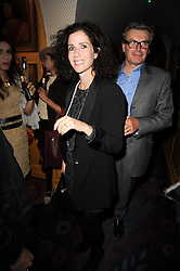 MOLLIE DENT-BROCKLEHURST and her husband DUNCAN WARD at a party to celebrate the publication of Blow by Blow - The Story of Isabella Blow by Detmar Blow and Tom Sykes held at Annabel's, Berkeley Square, London on 21st September 2010.