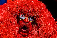 The Mile High Monster (a SUPER FAN), Denver Broncos Super Bowl victory parade in Downtown Denver, Colorado USA