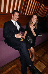 The HON.JAMES TOLLEMACHE and MISS ARABELLA MUSGRAVE at a party to celebrate the publication of 'E is for Eating' by Tom Parker Bowles held at Kensington Place, 201 Kensington Church Street, London W8 on 3rd November 2004.<br /><br />NON EXCLUSIVE - WORLD RIGHTS