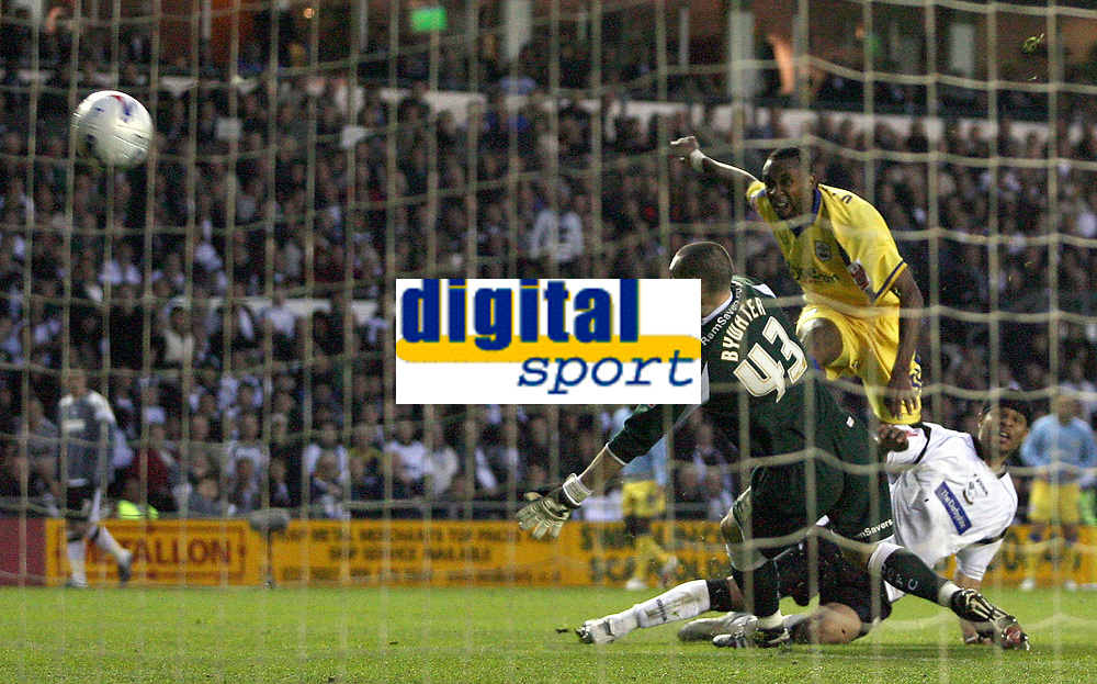 Photo: Paul Thomas.<br /> Derby County v Southampton. Coca Cola Championship. Play Off Semi Final, 2nd Leg. 15/05/2007.<br /> <br /> Jhon Viafana of Southampton scores.