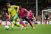 Norwich City defender Max Aarons (37) during the EFL Sky Bet Championship match between Norwich City and Queens Park Rangers at Carrow Road, Norwich, England on 6 April 2019.