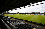 General view inside Huish Park Stadium ahead of the Pre-Season Friendly match between Yeovil Town and Forest Green Rovers at Huish Park, Yeovil, England on 31 July 2021.