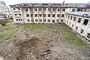 Primary School Number Ten building damaged in shelling attacks during 44 days of the war in Stepanakert, Nagorno-Karabakh. The region saw an end of the conflict after a ceasefire agreement was signed by the leaders of Armenia, Russia and Azerbaijan on 9 November to end the military conflict in Nagorno-Karabakh. Azerbaijani government established the Karabakh Region Authority (KRU) for the districts of Nagorno-Karabakh that came under Baku's control. The city of Stepanakert (Khankendi) is now under the jurisdiction of the KRU of the Ministry of Justice of Azerbaijan. (Photo/ Vudi Xhymshiti)