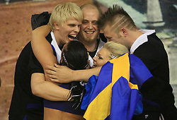 Musketeers Funky Cheer, Sweden, first place during final ceremony at European Cheerleading Championship 2008, on July 5, 2008, in Arena Tivoli, Ljubljana, Slovenia. (Photo by Vid Ponikvar / Sportal Images).