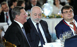 November 24, 2016 - Moscow, Russia - November 24, 2016. - Russia, Moscow. - Russian Special Presidential Representative for Environmental Protection, Ecology and Transport Sergey Ivanov (left) and Viktor Vekselberg, President of Skolkovo Foundation, Chairman of the Board of Renova, member of the Board of Trustees of RGO (2nd left) during the awarding ceremony of the Russian Geographical Society in Kremlin. (Credit Image: © Russian Look via ZUMA Wire)