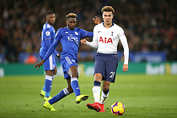 Tottenham Hotspur's Dele Alli (right) Tottenham Hotspur's Josh Onomah and during the Premier League match at the King Power Stadium, Leicester.
