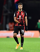 Junior Stanislas (19) of AFC Bournemouth gestures during the EFL Sky Bet Championship match between Bournemouth and Nottingham Forest at the Vitality Stadium, Bournemouth, England on 24 November 2020.