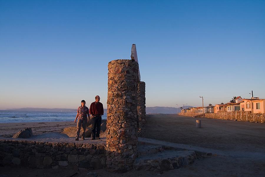 Liana and Parmenter Welty visit the El Faro Beach housing development near Ensenada, Baja California Norte, Mexico.