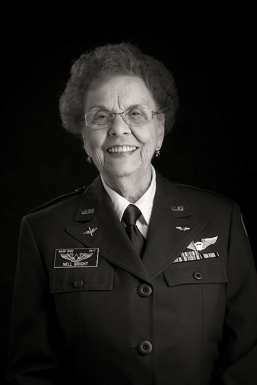 Nell Bright, WWII WASP.  Photographed during the 2013 Women in Aviation International conference in Nashville, Tn.   <br /> <br /> Created by aviation photographer John Slemp of Aerographs Aviation Photography. Clients include Goodyear Aviation Tires, Phillips 66 Aviation Fuels, Smithsonian Air & Space magazine, and The Lindbergh Foundation.  Specialising in high end commercial aviation photography and the supply of aviation stock photography for advertising, corporate, and editorial use.
