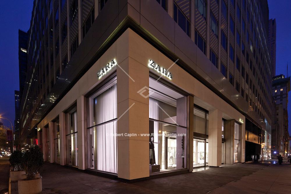 Fifth Avenue Zara façade in New York...Photo by Robert Caplin..