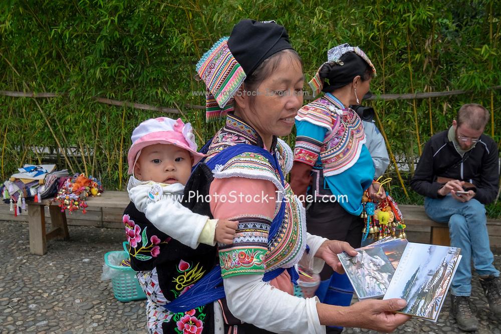 Hani Minority at Duoyishu village, Yuanyang County, in Honghe Prefecture in southeastern Yunnan province, China,