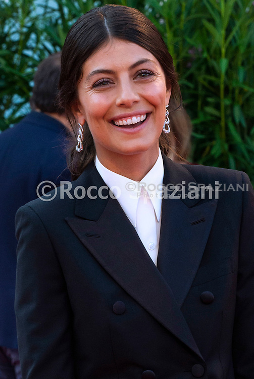 """ENICE, ITALY - AUGUST 30: Alessandra Mastronardi attends """"J'Accuse"""" (An Officer And A Spy) photocall during the 76th Venice Film Festival at Sala Grande on August 30, 2019 in Venice, Italy."""