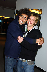 Left to right, STEVE WOOD and SAM BRANSON at a fashion show and after party to celebrate the 20th Anniversay of fashion designer Ozwald Boateng held at the Victoria & Albert Museum, London on 25th November 2005.<br /><br />NON EXCLUSIVE - WORLD RIGHTS