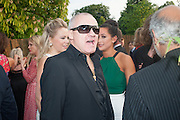 DAMIEN HIRST; ROXIE NAFOUSI;, The Serpentine Summer Party 2013 hosted by Julia Peyton-Jones and L'Wren Scott.  Pavion designed by Japanese architect Sou Fujimoto. Serpentine Gallery. 26 June 2013. ,