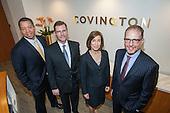 The new lawyers Aron Lewis, Rene Siemens, Robyn Polashuk, and Dan Shallman at Covington & Burling.