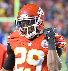 Dec 8, 2016; Kansas City, MO, USA; Kansas City Chiefs strong safety Eric Berry (29) readies to take the field during the first half against the Oakland Raiders at Arrowhead Stadium. The Chiefs won 21-13. Mandatory Credit: Denny Medley-USA TODAY Sports
