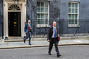 The government's chief medical officer Chris Whitty (right) and chief scientific adviser Patrick Vallance leave 10 Downing Street, London, ahead of a Cabinet meeting at the Foreign and Commonwealth Office on Wednesday, Sept 30, 2020. (VXP Photo/ Vudi Xhymshiti)