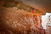 Pete Whittaker leading Century Crack, Canyonlands