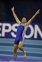 Photo: Rich Eaton.<br /> <br /> EAA European Athletics Indoor Championships, Birmingham 2007. 04/03/2007. Rudy Bourguignon of France competes in the heptathlon pole vault