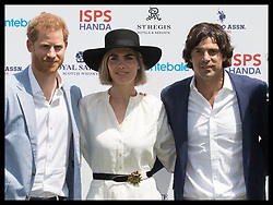 May 24, 2019 - Rome, London, Italy - Image licensed to i-Images Picture Agency. 24/05/2019. Rome, Italy. Prince Harry, The Duke of Sussex with polo player Nacho Figueras and his wife Delfina Blaquier at the 2019 Sentebale ISPS Handa Polo Cup at the Rome Polo Club in Italy. (Credit Image: © Stephen Lock/i-Images via ZUMA Press)